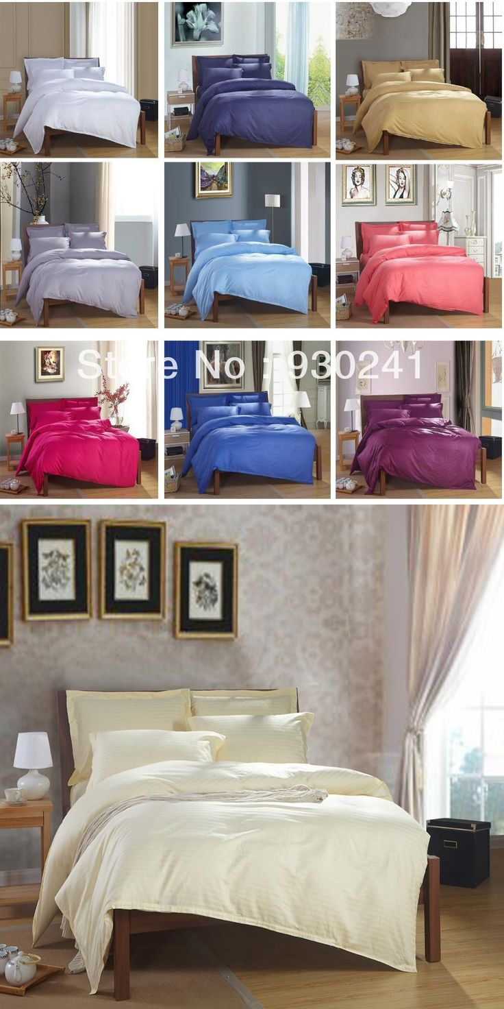 Hotel supplies Bedclothes Bedding set  Full/King/Queen size100%Cotton 40S 1CM Satin Bed linen Bed Sheet Embroidered White&Blue