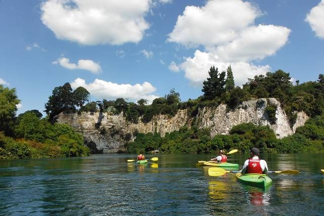 #canoeandkayak #Taupo #river #backpacking #group #NewZealand