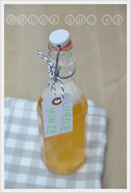 Limette Minze Sirup