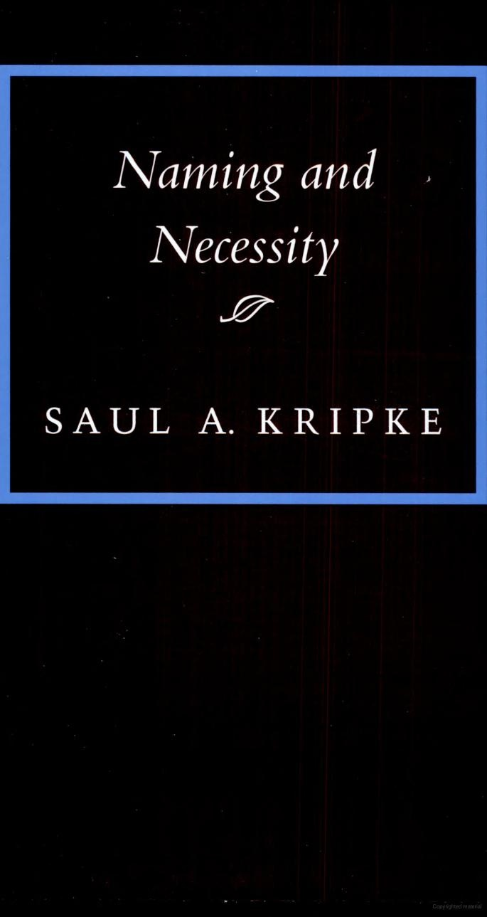 "Naming and Necessity - Saul A. Kripke : I have no idea of subject or if fiction or non ... pin-it for a ""note to self"""