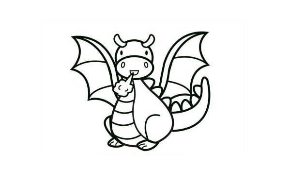 42 best images about dragons and cats on pinterest cats for Cute baby dragon coloring pages