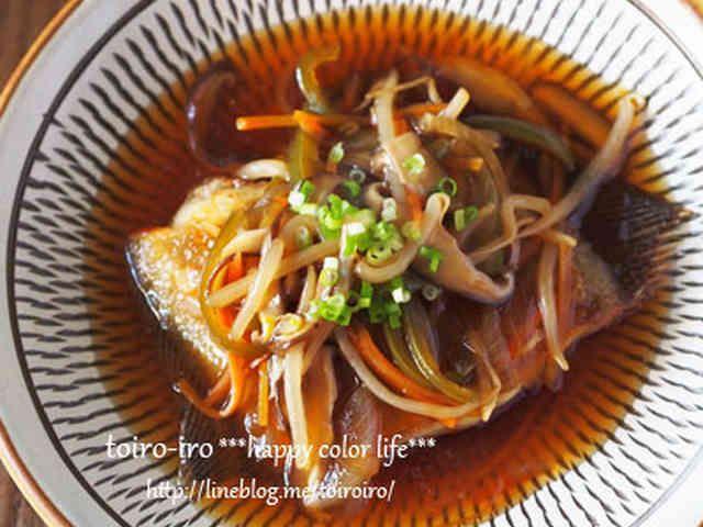 野菜も摂れる★カレイの中華風あんかけの画像