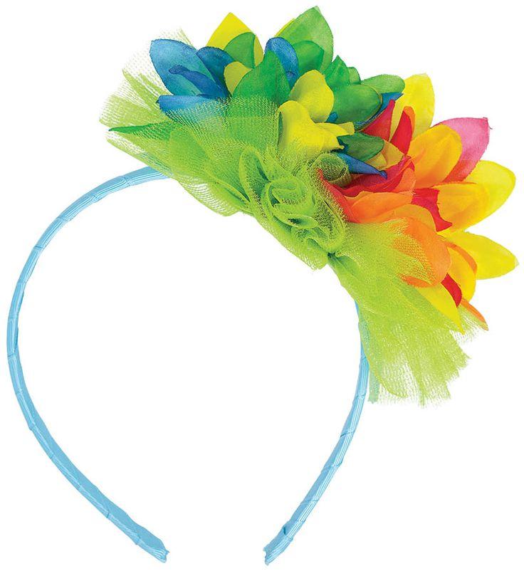 Hibiscus Floral Headband | Wally's Party Factory #luau #hibiscus #headband