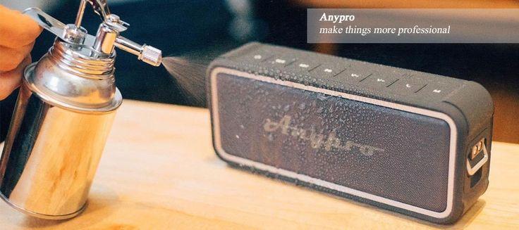 Amazon | Anypro ポータブル Bluetooth スピーカー IP67防塵&防水認証 【全音域が自然のバランスで長時間持続再生】 低音強化 内蔵高質マイク搭載 NFC、Siri対応 デュアルドライバー臨場感 HFD-895 | デジタルオーディオ用スピーカー オンライン通販
