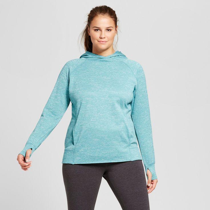 Women's Plus-Size Tech Fleece Hoodie - C9 Champion Teal (Blue) 1X