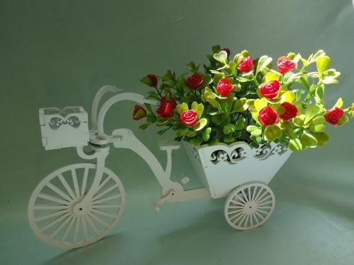 Bicicleta Triciclo Em Mdf Decorativa Pintura Em Laca - R$ 65,00