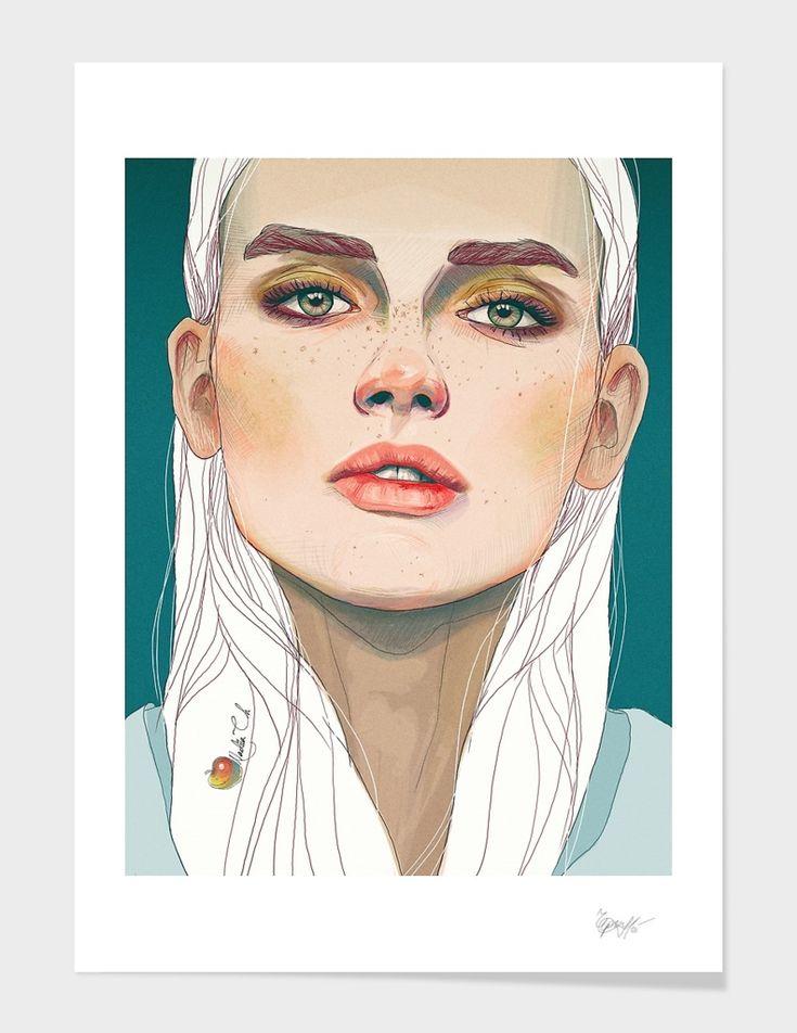 «Darya» Art Print by Nadiia Cherkasova