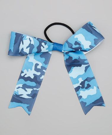 Take a look at this Blue Camo Bow Hair Tie by All the Little Things on #zulily today!