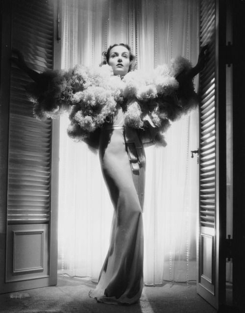 Carole Lombard, 1930s.  www.foreveryminute.com   For Every Minute Luxury Silk Lounge and Sleepwear