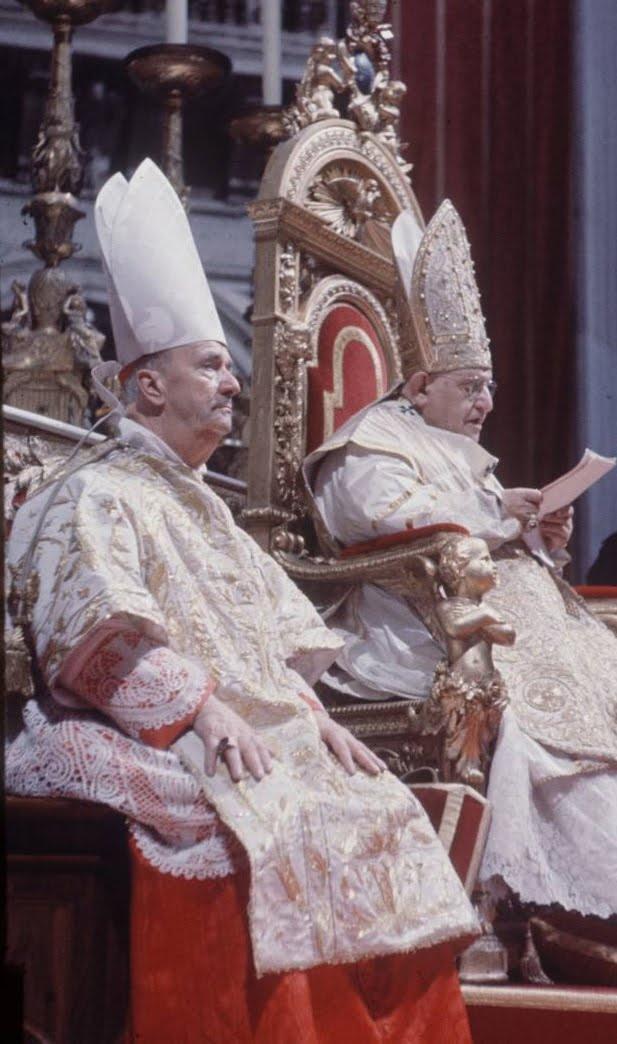 Cardinal Ottaviani and Pope John XXIII