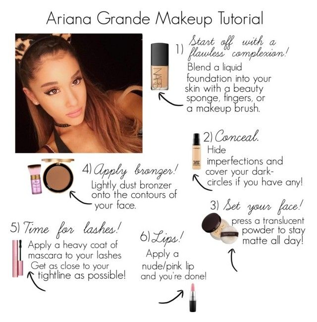 """Ariana Grande Makeup Tutorial"" by osnapitzjacque ❤ liked on Polyvore featuring beauty, NARS Cosmetics, MAC Cosmetics, Laura Mercier and Too Faced Cosmetics"