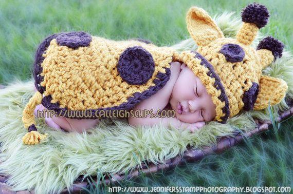 Crochet Pattern  No 11  Goldie Giraffe Cuddle by calleighsclips, $5.95: Babies, Giraffes Baby, Baby Giraffes, Critter Capes, Crochet Patterns, Newborns Photography, Goldie Giraffe, Photography Props, Cuddling Critter