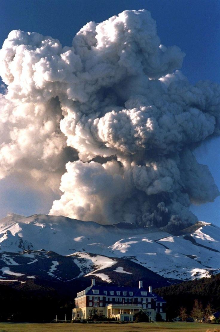 Mt Ruapehu eruption