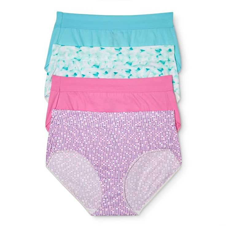 Hanes X-Temp Women's Briefs CO38AS 4pk (Colors May Vary) - Size 10, Multicolored