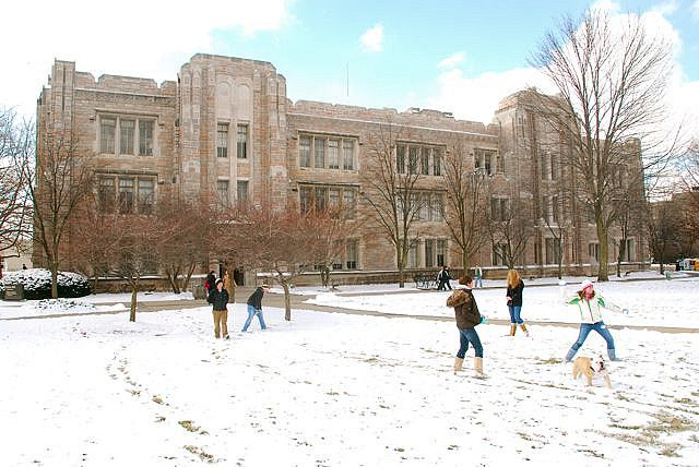 Winter at Butler University in Indianapolis