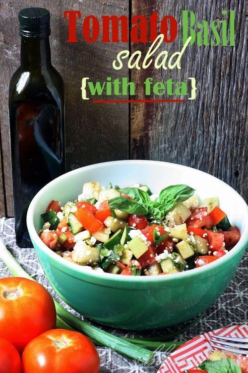 tomato basil salad with feta @ myblessedlife.net
