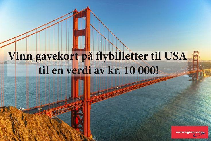 Vinn gavekort på flybilletter til USA til en verdi av kr. 10 000!