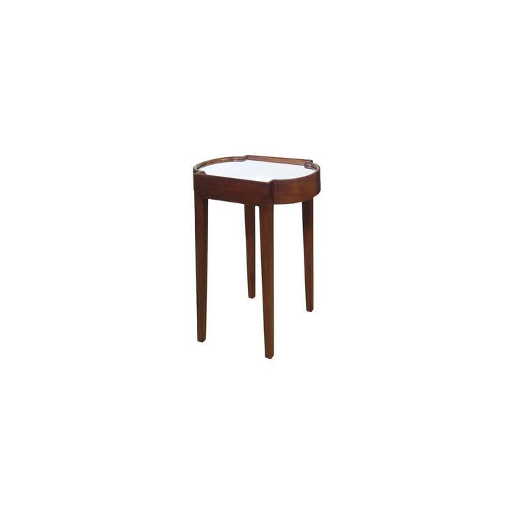 Suri End Table Chairside Brown Mirrored Top - Lacquer - Progressive Furniture