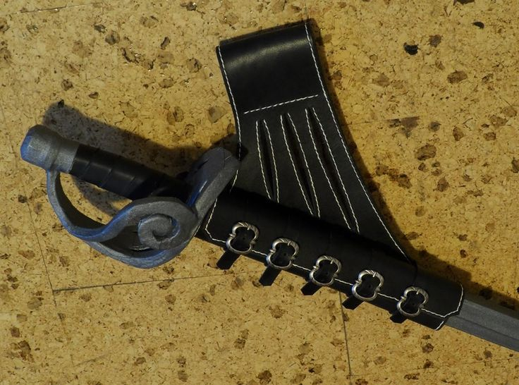 Leather sword holster