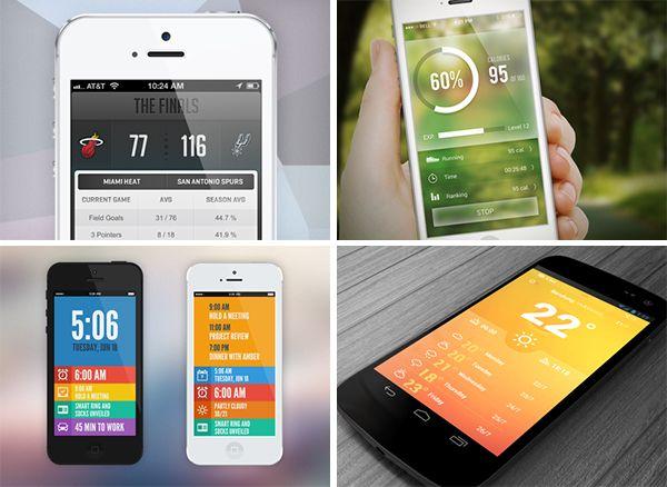 exploring dribbble / app design