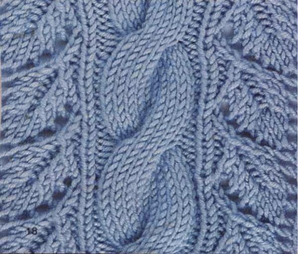 вязание ажурные узоры ромбами