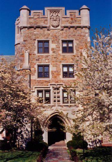 Brescia Hall (entrance), College of New Rochelle-my freshman dorm!