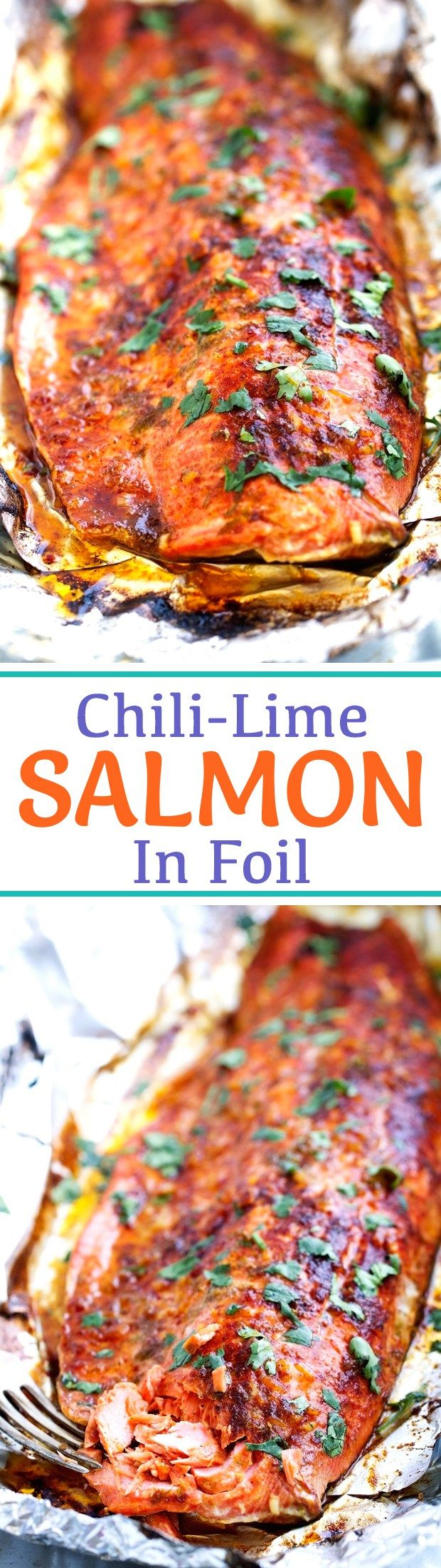 Chili-Lime Baked Salmon in Foil Recipe | Little Spice Jar