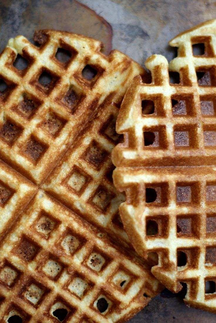Crunchy Cornmeal Waffles Recipe