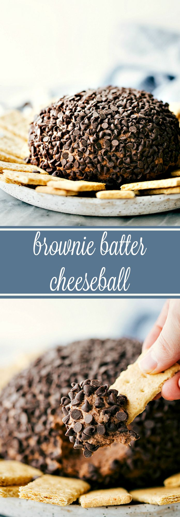 Brownie Batter Cheeseball - SIMPLE and delicious brownie batter cheesecake ball!