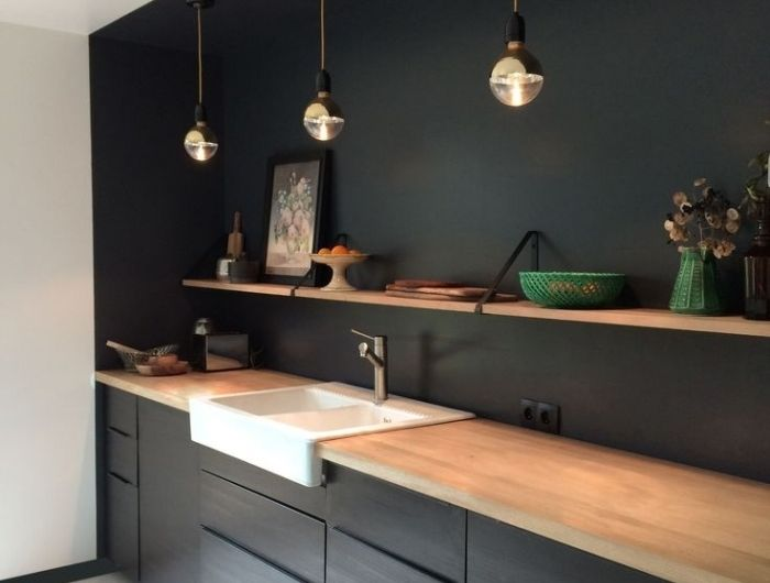 57 best Cuisine images on Pinterest Black kitchens, Bright