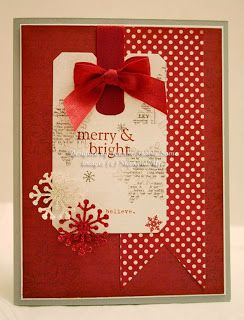 Merry and Bright Christmas handmade card