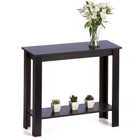 Black Hallway Table. Perfect for our hallway entry.