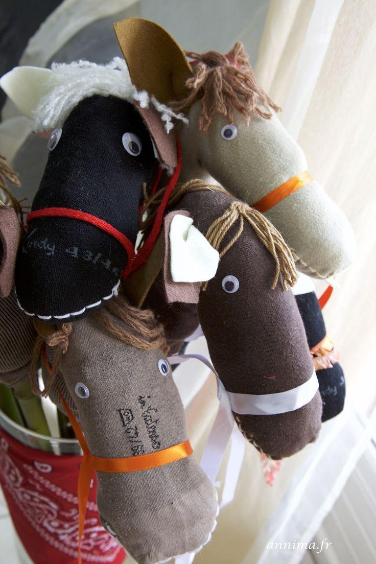 anniversaire-cow-boy5 chevaux chaussettes homemade horses