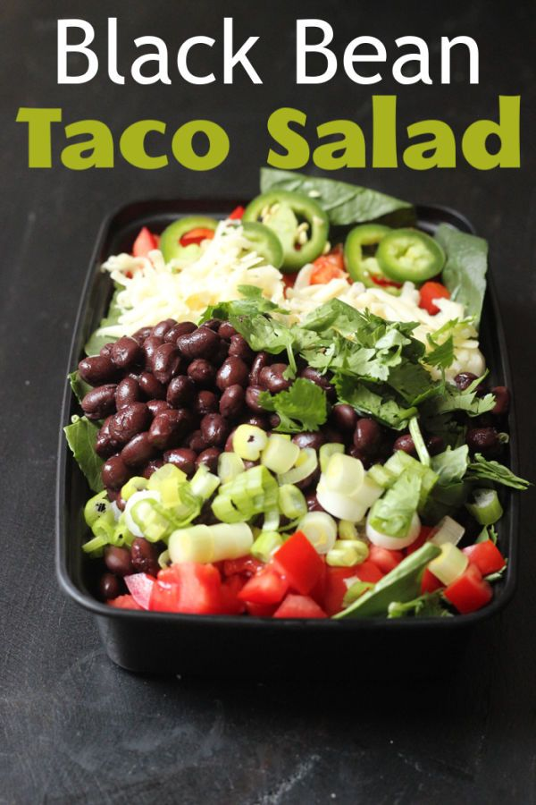 Black Bean Taco Salad Good Cheap Eats Recipe In 2020 Black Bean Tacos Bean Tacos Eat
