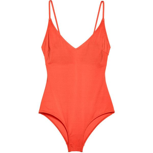 c858340dfd4d0 V-neck Swimsuit $24.99 (205 SEK) ❤ liked on Polyvore featuring swimwear,  one-piece swimsuits, swimsuit swimwear, v neck bathing suits, swim suits,  ...