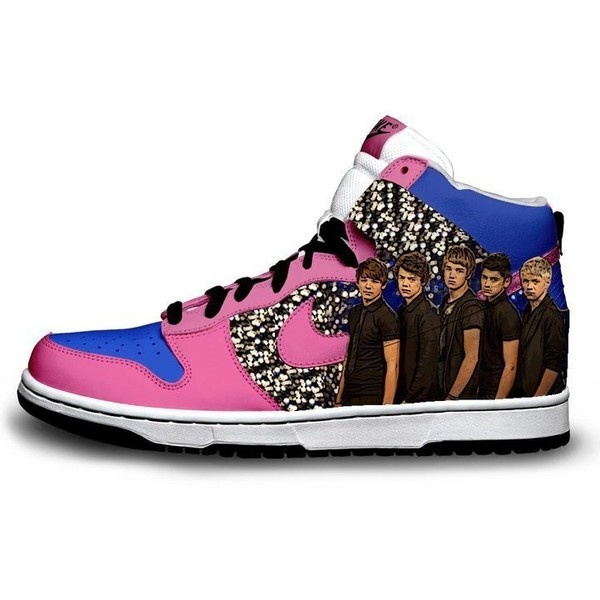 One Direction shoes found on Polyvore WANT!! WANT THEM SO FREAKING BAADD MUH TYPE OF SHOES