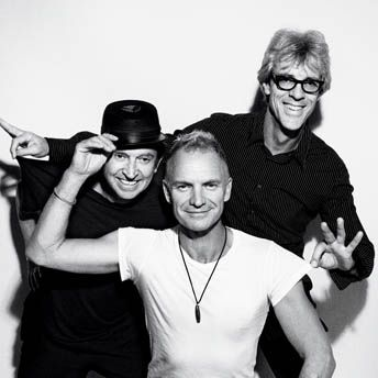 The Police - group portrait from their 30th Anniversary tour