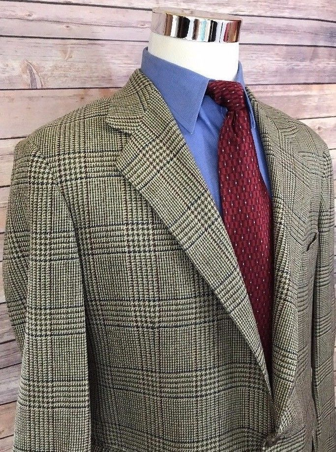 Vintage Polo Ralph Lauren Glen Plaid Windowpane Tweed Sport Coat Blazer Mens 44R | Clothing, Shoes & Accessories, Men's Clothing, Blazers & Sport Coats | eBay!