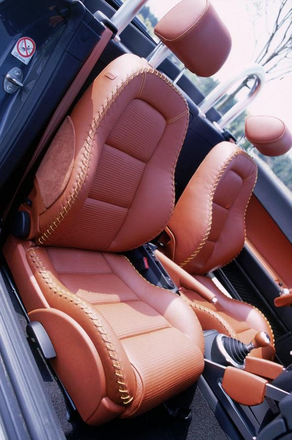 Baseball-glove leather seats [2001 Audi TT Roadster]