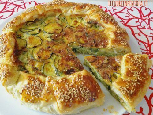 La torta salata con zucchine è una torta salata a base di pasta sfoglia con…