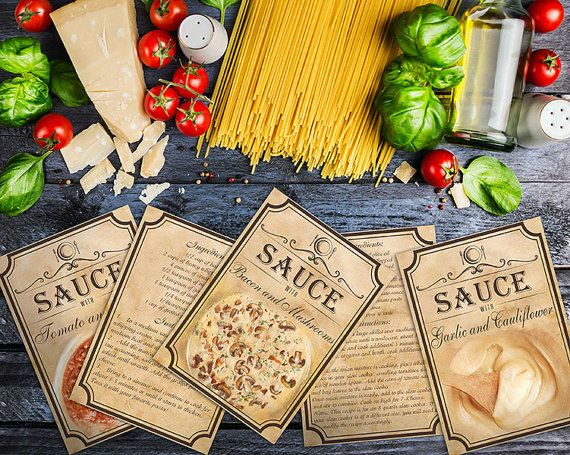 Recipes Of Sauces For Pasta Recipe Print by BlueberryDreamDesign