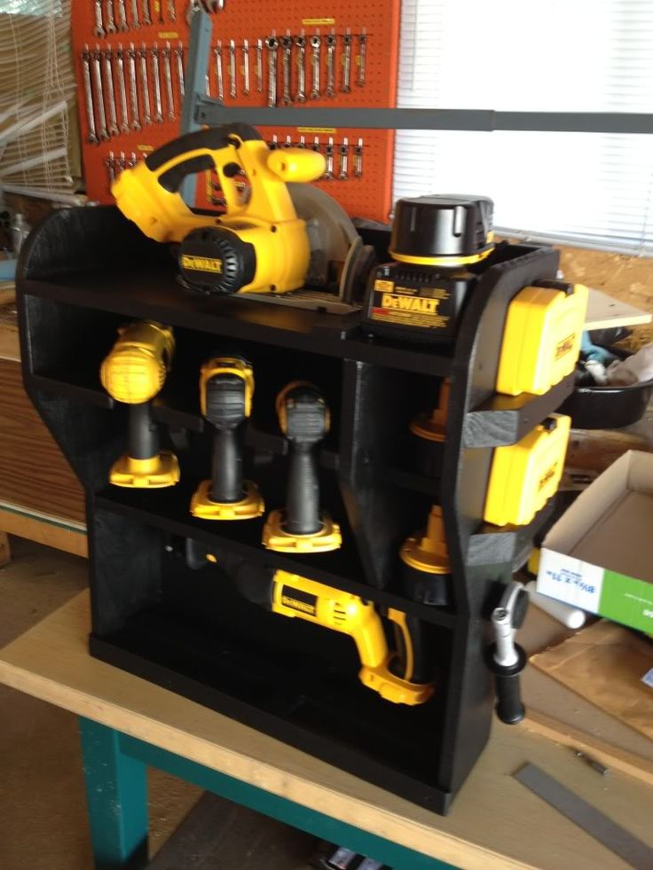 Awesome Cordless Power Tool Storage Idea