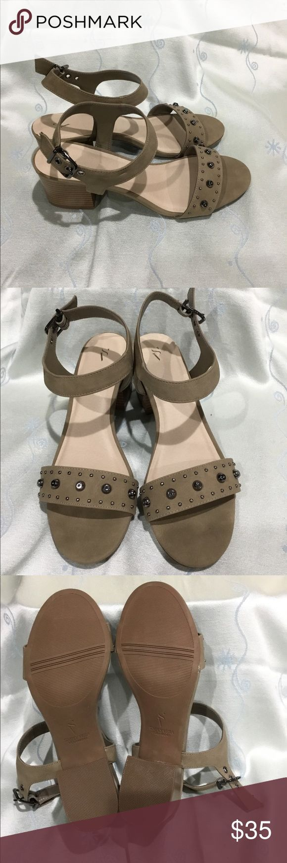 "Simply Vera Wang laurel khaki sandals. Brand new Simply Vera Wang Laurel Khaki Sandals. Features adjustable ankle strap and 2.5"" heel. Simply Vera Vera Wang Shoes Sandals"