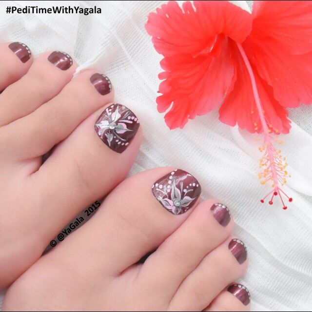 25 Beautiful Fall Pedicure Designs Ideas On Pinterest Fall Nail Toe Nail  Art By Yagala From