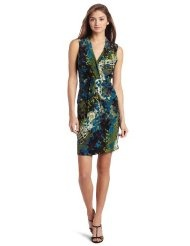 Kenneth Cole Womens Irish Pond Shirred Waist Dress