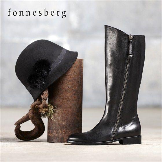 Fonnesberg ridestøvle i glat skind