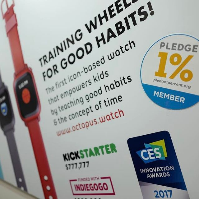 Proud Pledge1percent.org member #hardware #hax #hardwareclub #makersgonnamake #maker #iot #startup #kid #familytech #wearable #iconbasedwatch #OctopusWatch #kickstarter #indiegogo #smartkids #OctopusByJOY #innovation #watch #band #ces #ces2017 #cesinnovationawards #educational #toys #educationaltoys