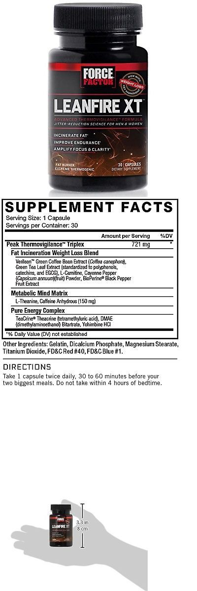 Weight Loss: Force Factor Leanfire Xt Thermogenic Fat Burner Weight Loss Supplement With C... -> BUY IT NOW ONLY: $38.79 on eBay!