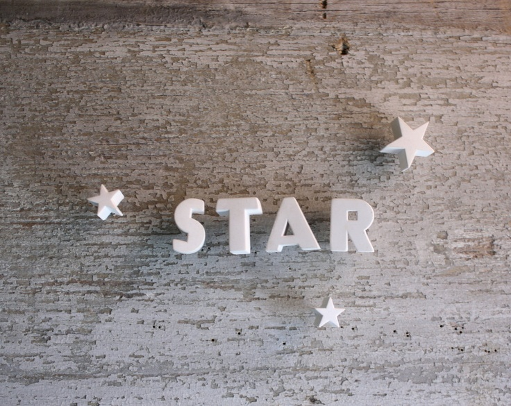 Ceramic Push Pin Letters - 1940s - STAR