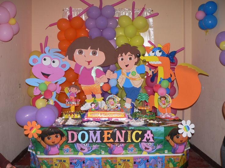 60 best images about fiesta de dora la exploradora on - Decoracion cumpleanos dora la exploradora ...